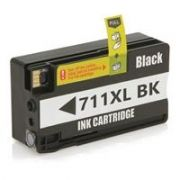Cartucho de tinta HP 711XL | Designjet T120 T520 Preto Compatível 75ml