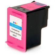 Cartucho HP 664XL Colorido | Deskjet 1115 2136 3636 3836 3536 4676 | Compatível - 12ml