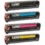 KIT 4 TONER COMPATÍVEL HP CB540A CB541A CB542A CB543A | CP1215 CP1510 CP1515 CP1518