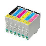 KIT 6 CARTUCHOS EPSON R270 | R390 | RX590 | TX720WD - TO82 IMPORTADO COMPATÍVEL