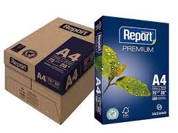 Caixa com 10 pacotes de Papel Sulfite Report Multiuso 75 g A4 500 Folhas
