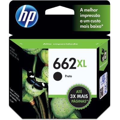Cartucho HP 662XL Preto CZ105AB | Deskjet 2515 Deskjet 2516 3515 | Original  HP D3516, 1516, 2546, 2646, 3546, 4646.