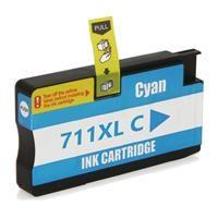Cartucho de tinta HP 711XL  Designjet T120 T520 Ciano Compatível 28ml