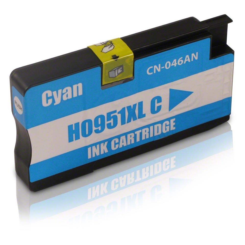 Cartucho HP 951XL 951 CN046A Ciano | Officejet 8600  8100 PRO 251DW. Compatível