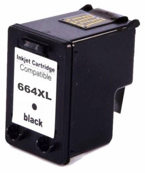 Cartucho HP 664XL Preto | DeskJet 1115 2136 3636 3836 3536 4676 | Preto Compatível 12ml