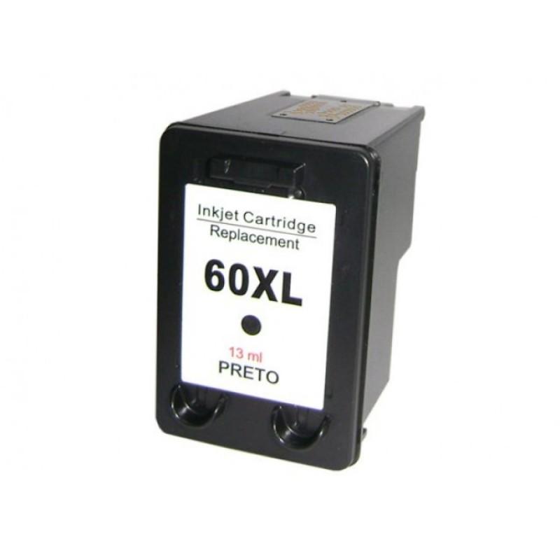 CARTUCHO HP 60XL PRETO COMPATIVEL HP 1660 / F2210 D2530 F4240 F4280 C4640/ D2545 / D2560 / C4650 / C4680 / C4740 C636w
