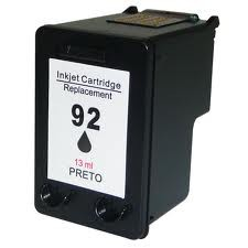 CARTUCHO 92 PRETO COMPATIVEL  5440/OFFICEJET 6310/PHOTOSMART C3180/C3140/C3150/1510