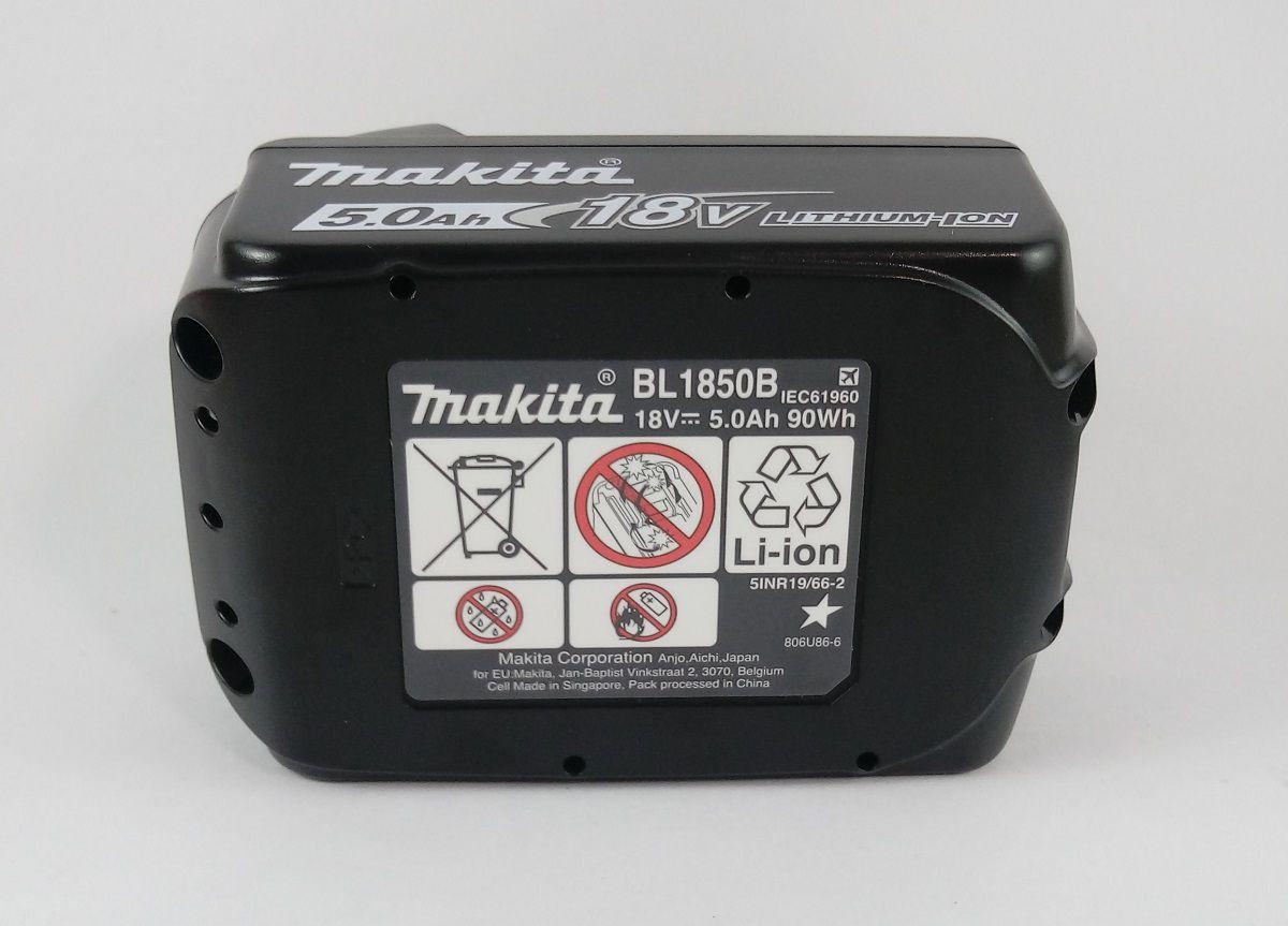 Bateria de Litio 5.0Ah 18V com indicador Bl1850B Makita