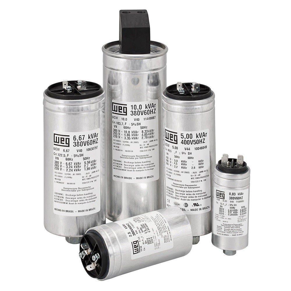 Capacitor Monofásico 5KVAR 220V UCW5V25 N14 11449885 WEG