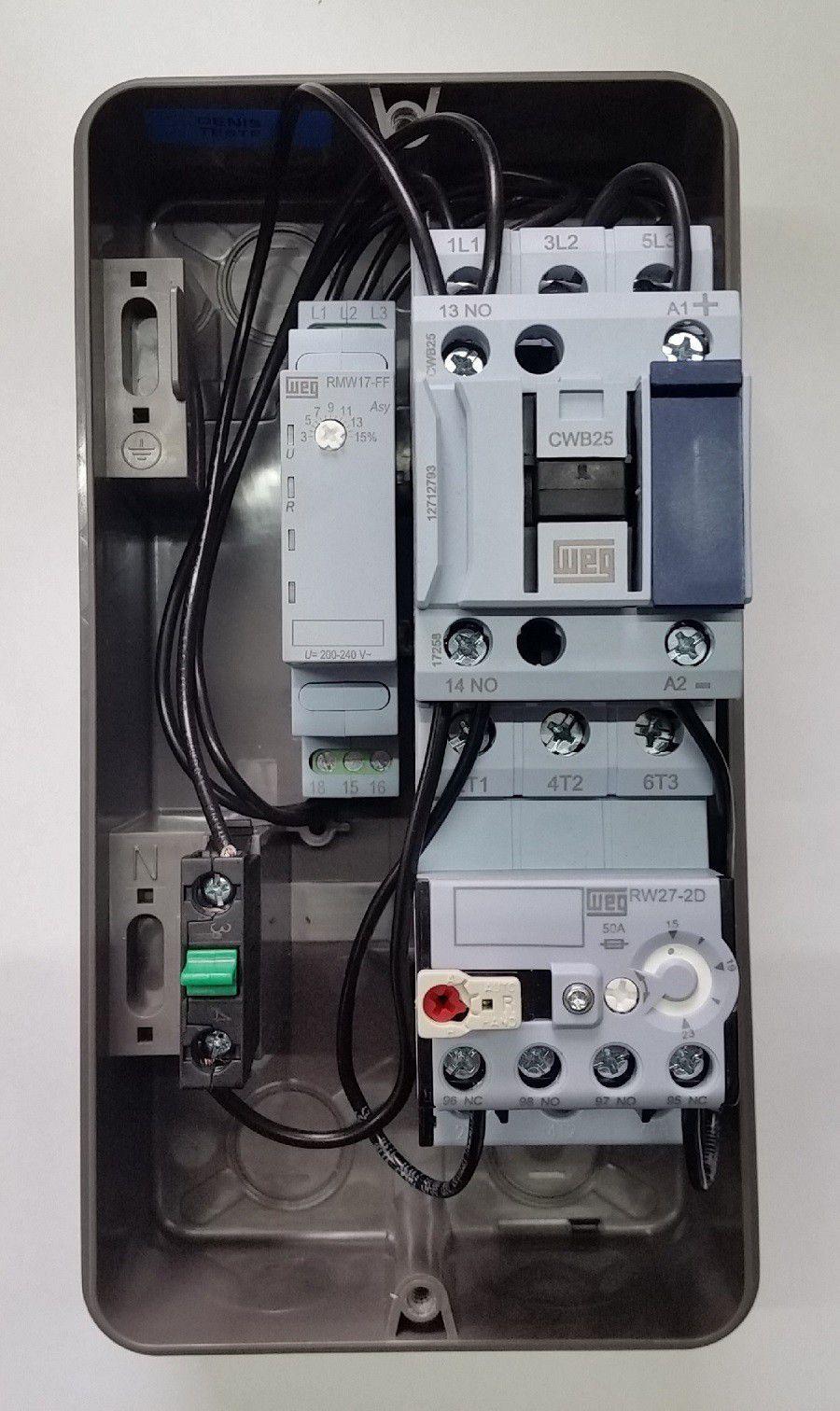 Chave Partida Direta PDW05 7,5CV Trifásica C/ Falta Fase 220V WEG