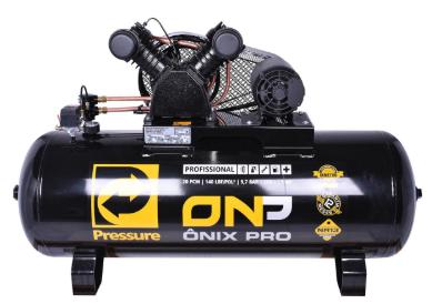 Compressor de Ar 20 PCM/200L Onix Onp TRIF 5HP 2P - Pressure220/380V