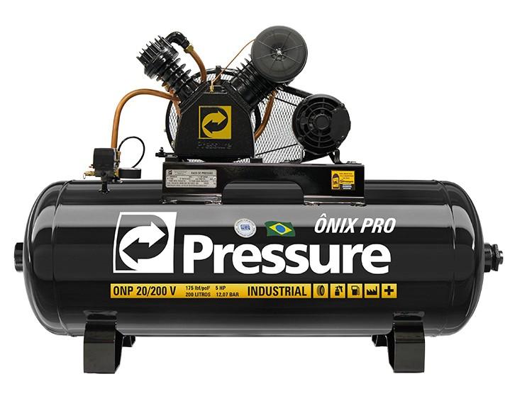Compressor de Ar 20Pcm/200L ONP Trifásico 5Hp Pressure