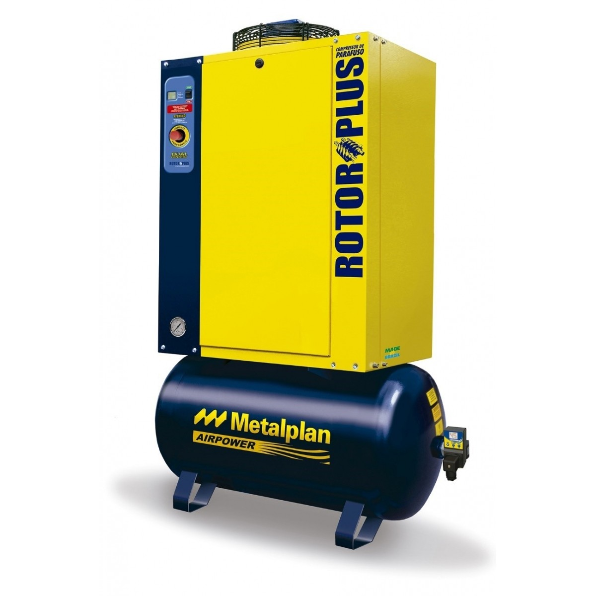 Compressor de ar parafuso rotor plus 10HP-380V-7,5BAR-97LTS