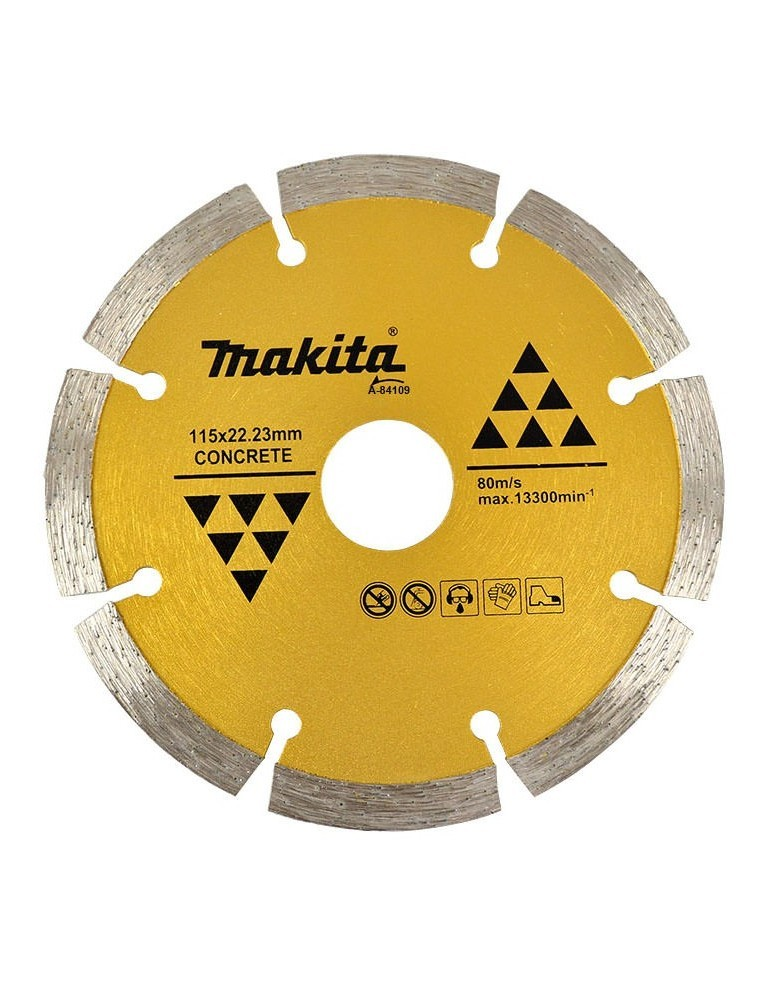 Disco Diamantado Segmentado p/ Esmerilhadeira 115mm A-84109 - Makita