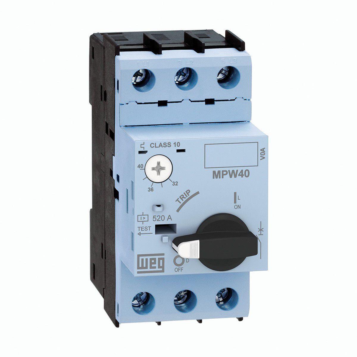 Disjuntor Motor MPW40-3-U025 AZUL 20-25A WEG