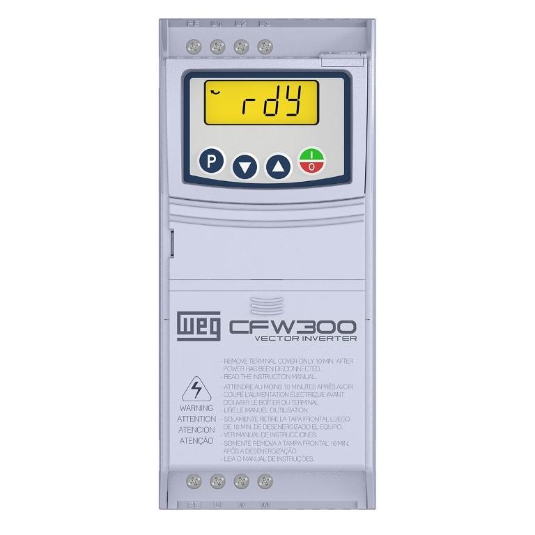 Inversor de Frequência CFW300 220V MONO/TRIF 2CV 7,3A WEG
