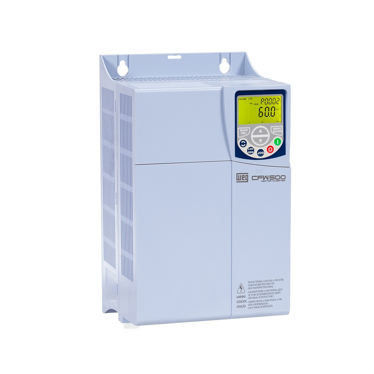 Inversor de frequência Weg CFW500 Entrada 380V 15CV 24A