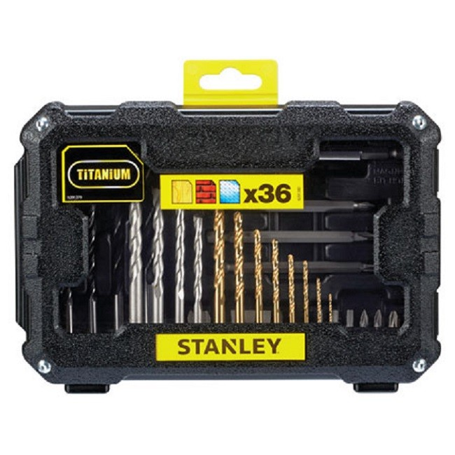 Kit de Brocas e Bits 36 Peças STA7222 Stanley