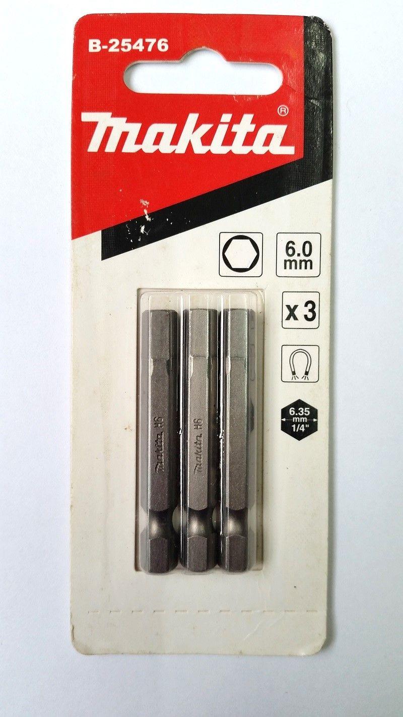 Kit 3 Bits Torção Hexagonal 6x50mm B-25476 Makita