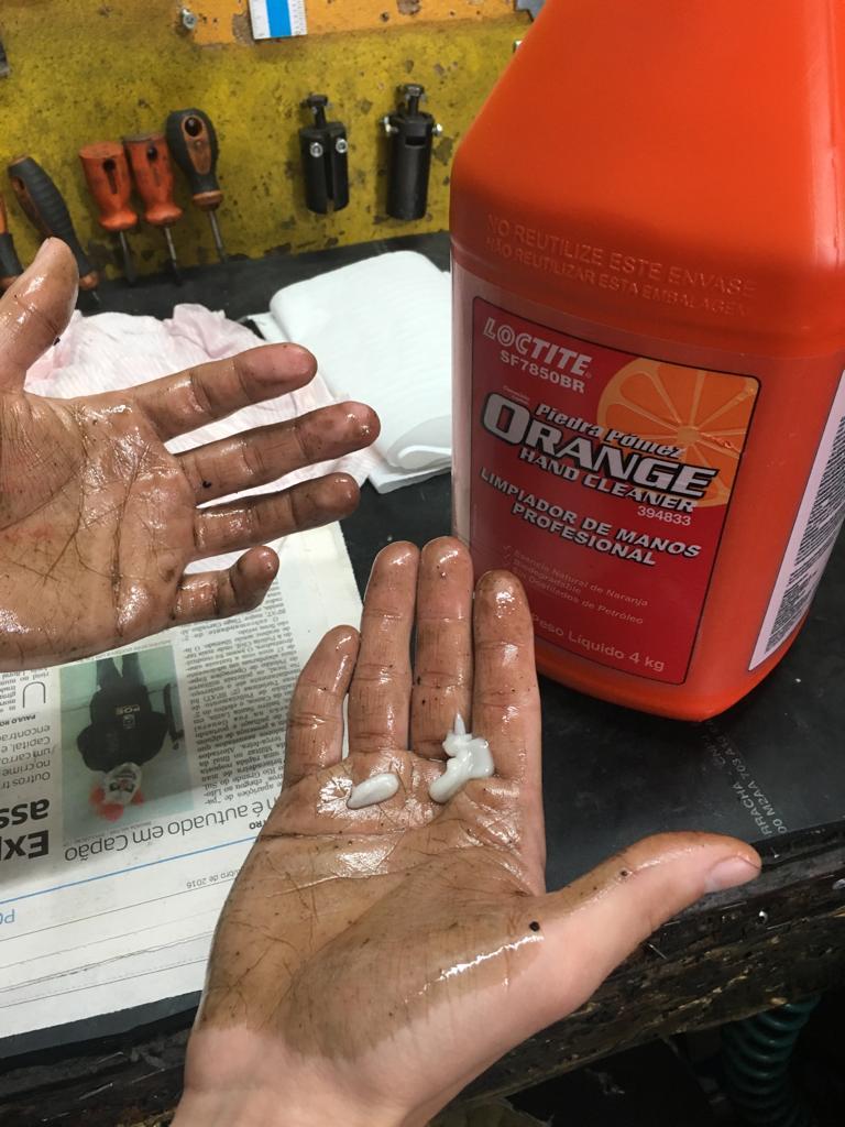 Pedra Pomes Loctite Orange Limpa Mãos Profissional 4KG