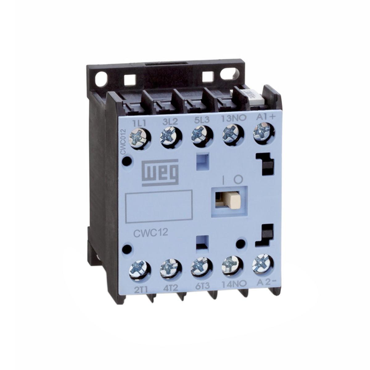 Minicontator Tripolar CWC012 12A 1NF 380V WEG