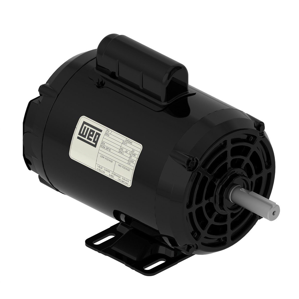Motor Monofásico 0,5CV 2P 127/220V PRETO IP21 - WEG