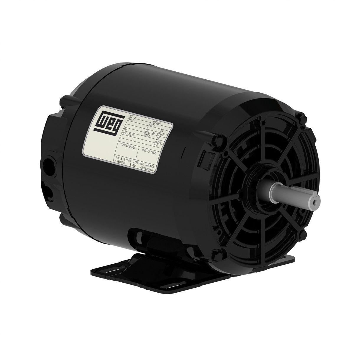 Motor Trifásico Aberto Baixa Rotação 1cv 4P 220/380V WEG