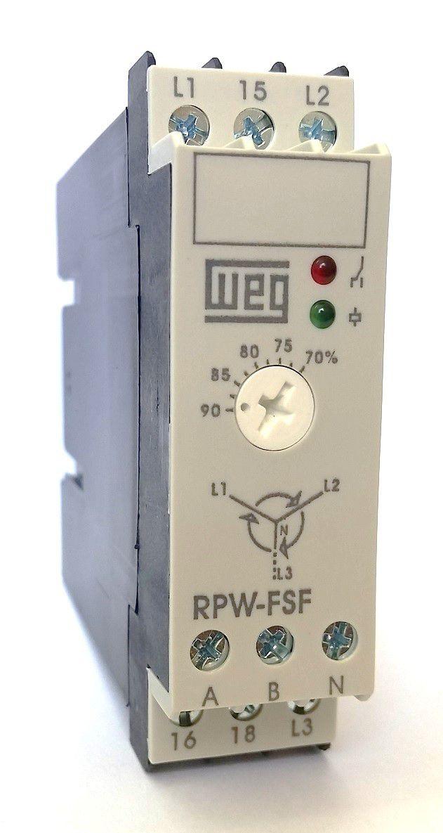Relé de Proteção Falta e Sequência de Fase RPW-FSF WEG