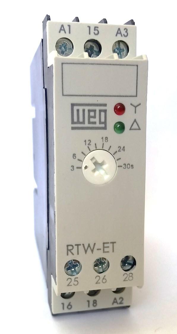 Relé Eletrônico Estrela Triângulo RTW-ET 3-30S WEG