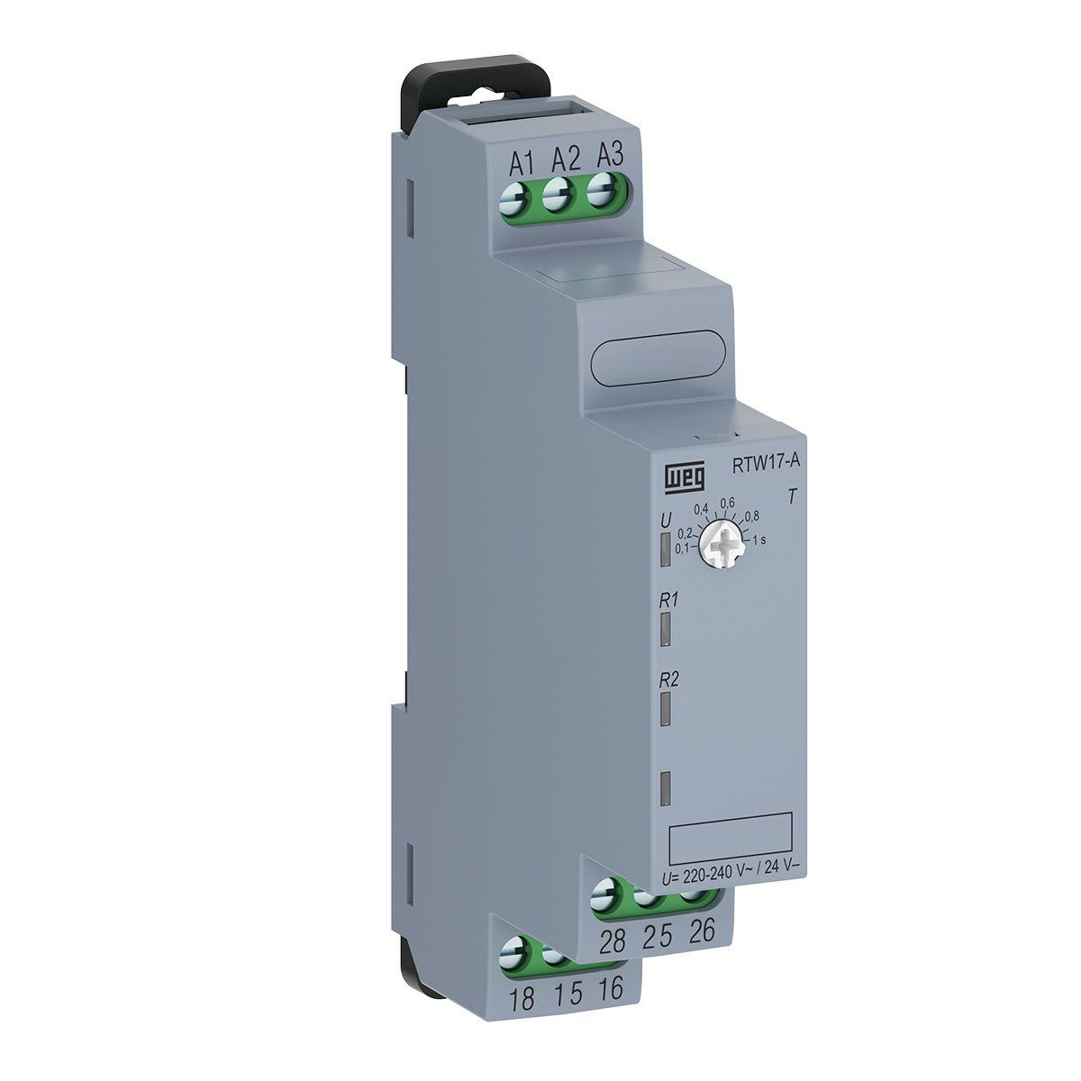 Relé Eletrônico Temporizador Retardo 6S-60S 220V RTW17 WEG