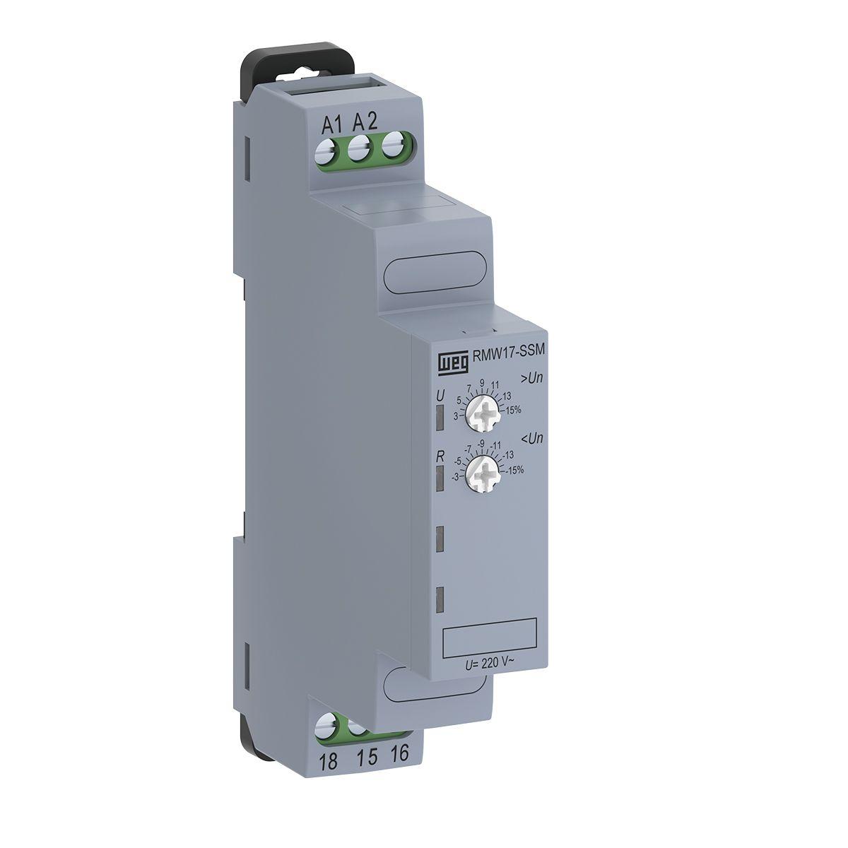 Relé Monitoração Sub e Sobretensão Mono 220V RMW17-SSM WEG
