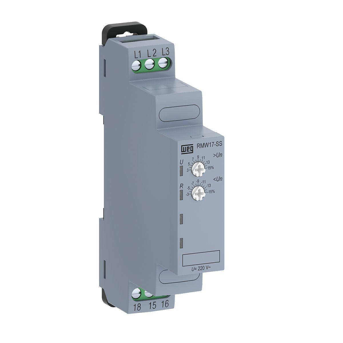 Relé Monitoração Sub e Sobretensão Trifásico 220V RMW17 WEG
