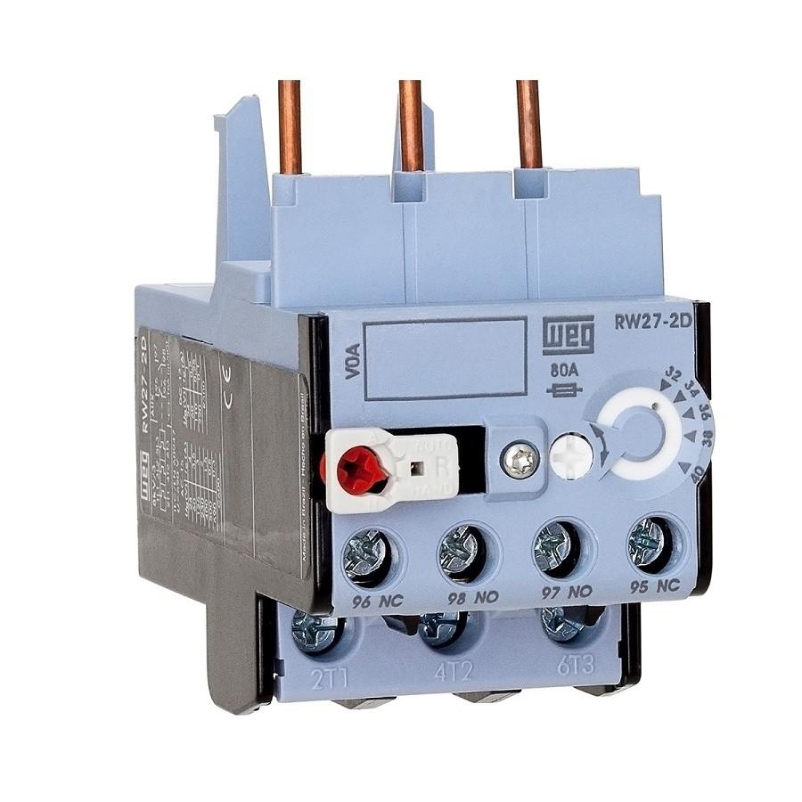 Relé sobrecarga 0,8-1,2A RW27-2D3-D012 p/ Contator CWB WEG