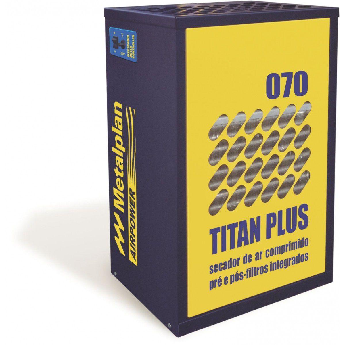 Secador de Ar Refrigerado 70 PCM MONO Titan Plus METALPLAN