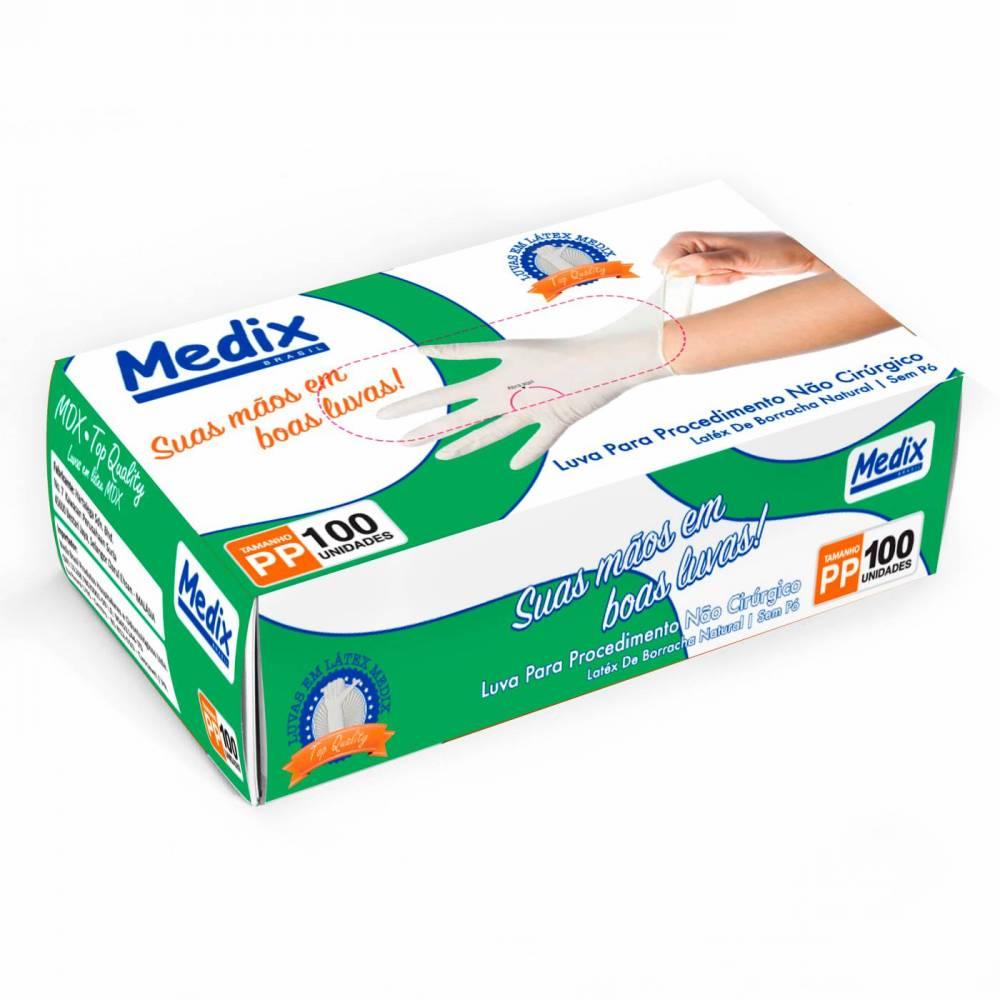 Luva de Látex C/Pó - Medix/MBlife