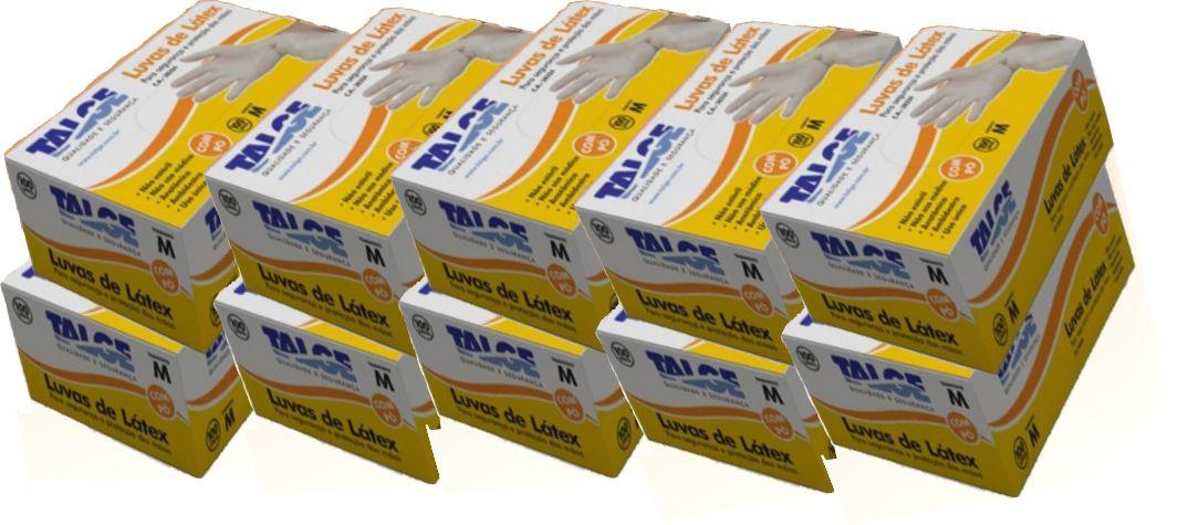 Luva de Procedimento em Látex - caixa c/ 10 caixinhas - Talge