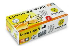 Luva de Procedimento em Vinil - Sem Po - Descarpack