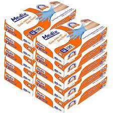 Luva de Procedimento Nitrílica Azul - Medix caixa master c/ 10 caixinhas