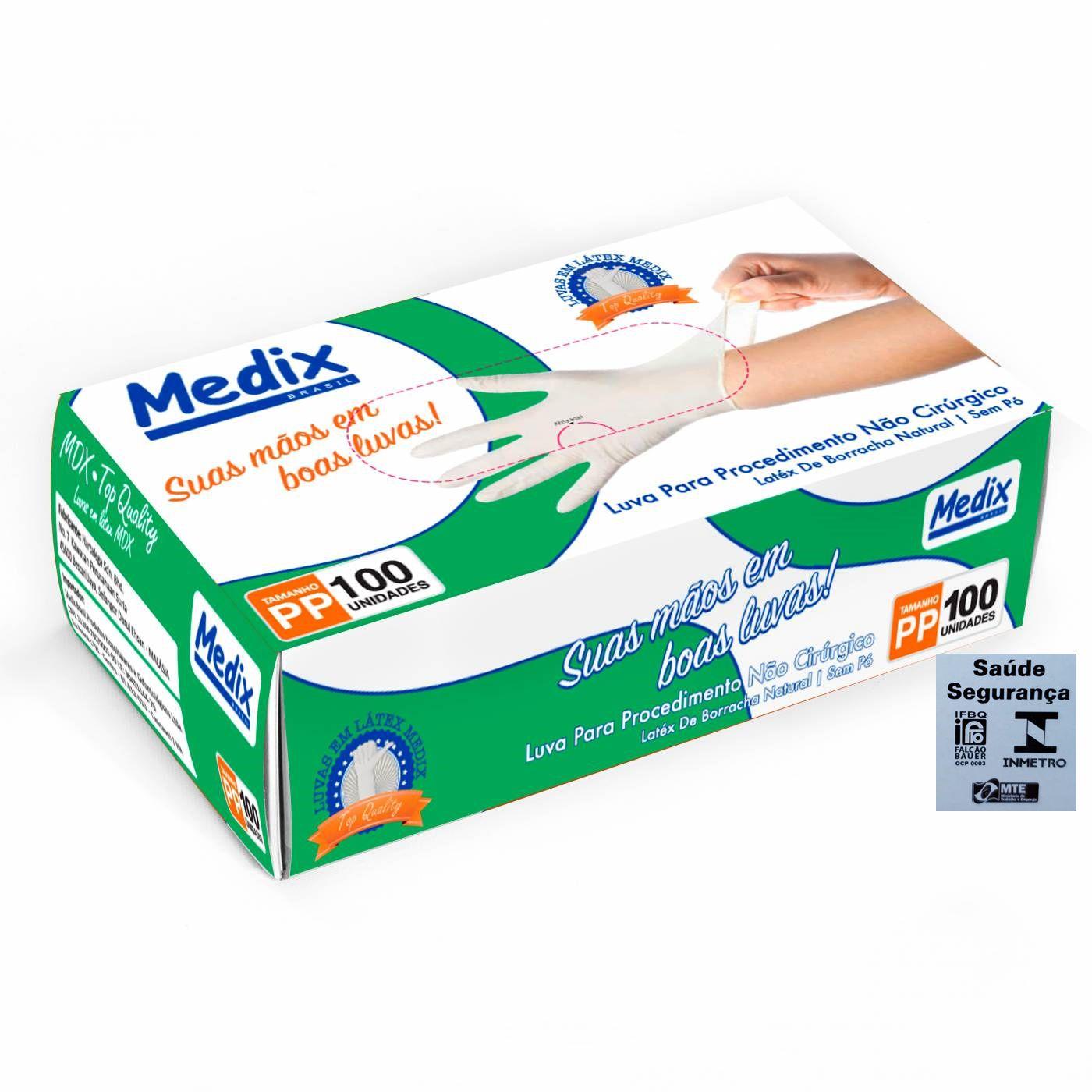 Luva de Procedimentos sem pó - Caixa c/10 Unidades - Medix
