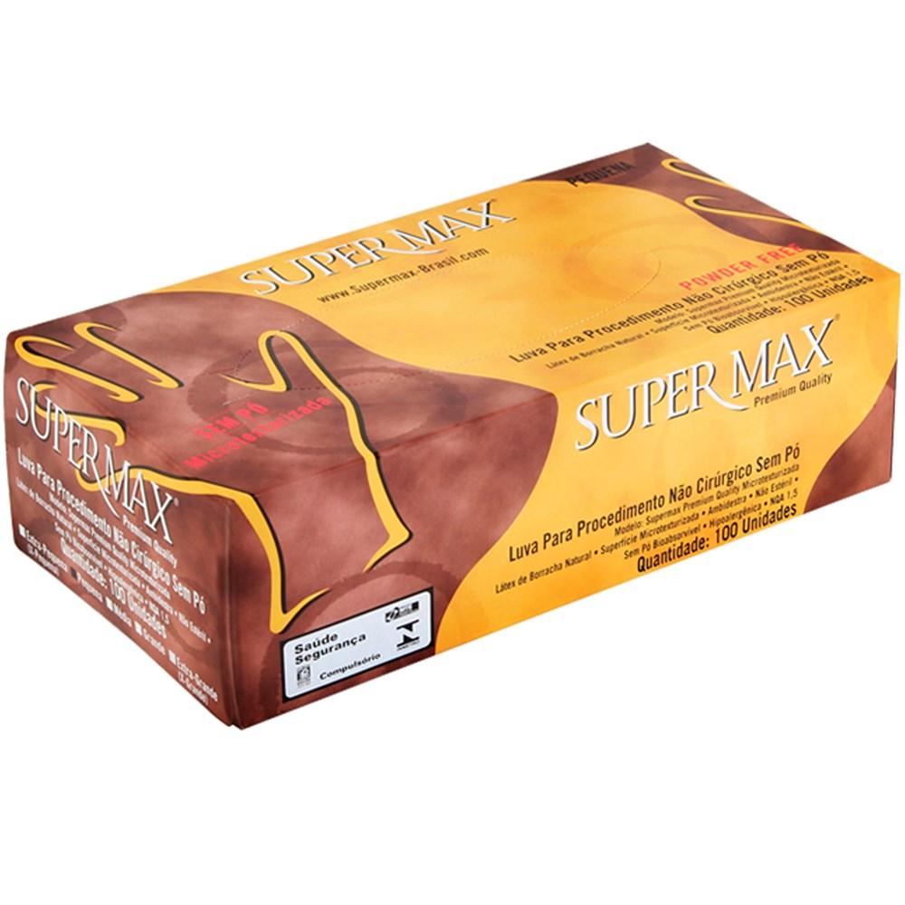 Luva de Procedimento Powder Free - Sem Pó - Caixa Com 100 Luvas - Supermax