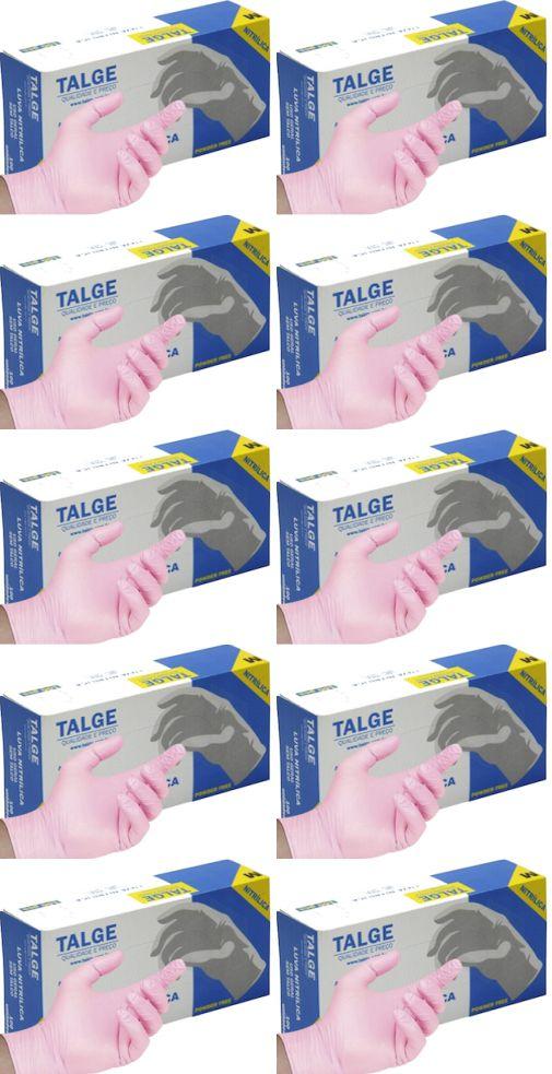 Luva de Procedimento Rosa Nitrílica -Caixa c/ 10 caixinhas - Talge