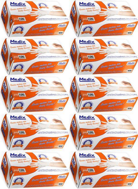 Luva De  Procedimentos caixa c/ 10 Caixinhas - Medix