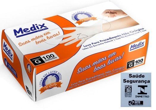 Luva De  Procedimentos MEDIX/INMETRO Kit c/10