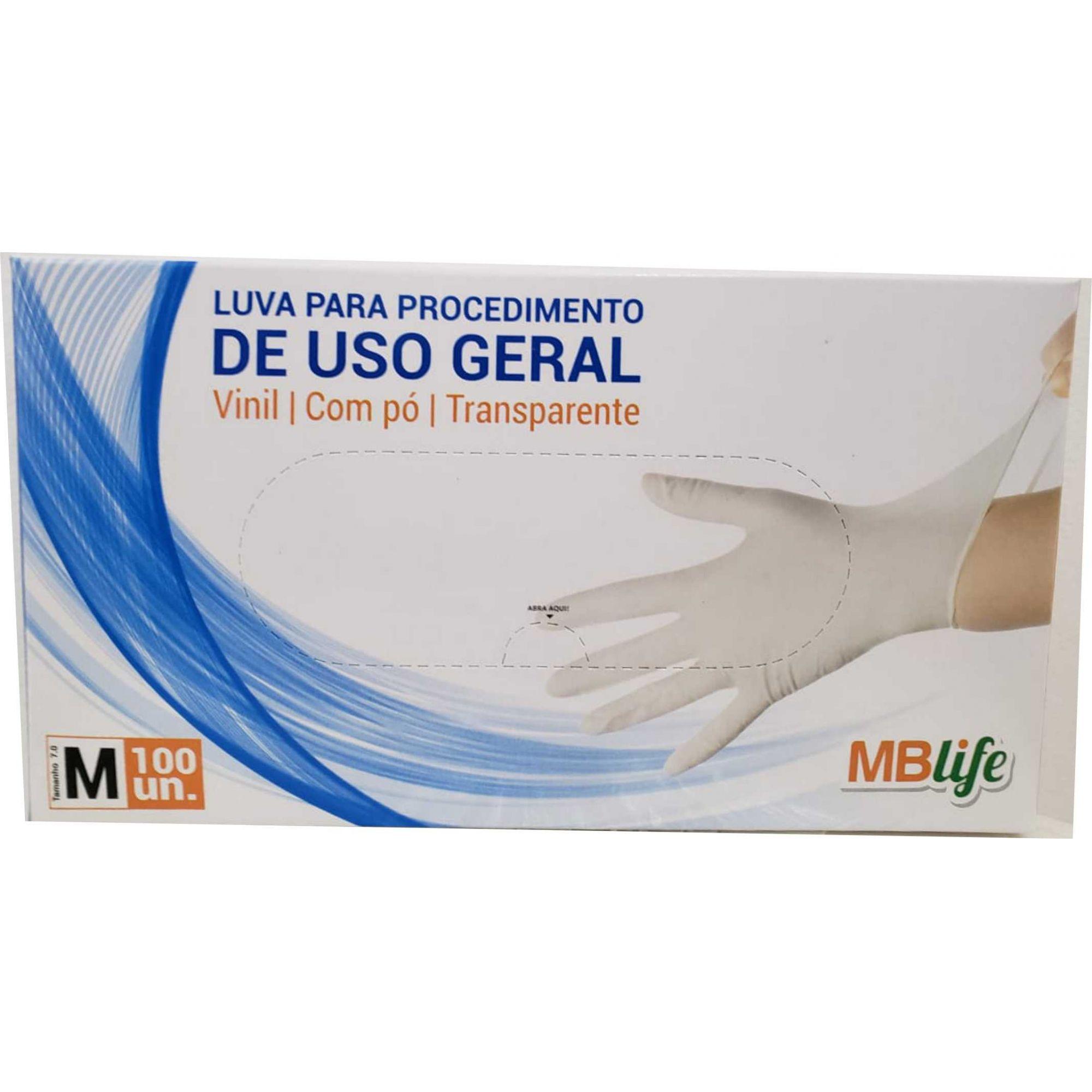 Luva de Vinil - Com Pó - Medix/MBlife