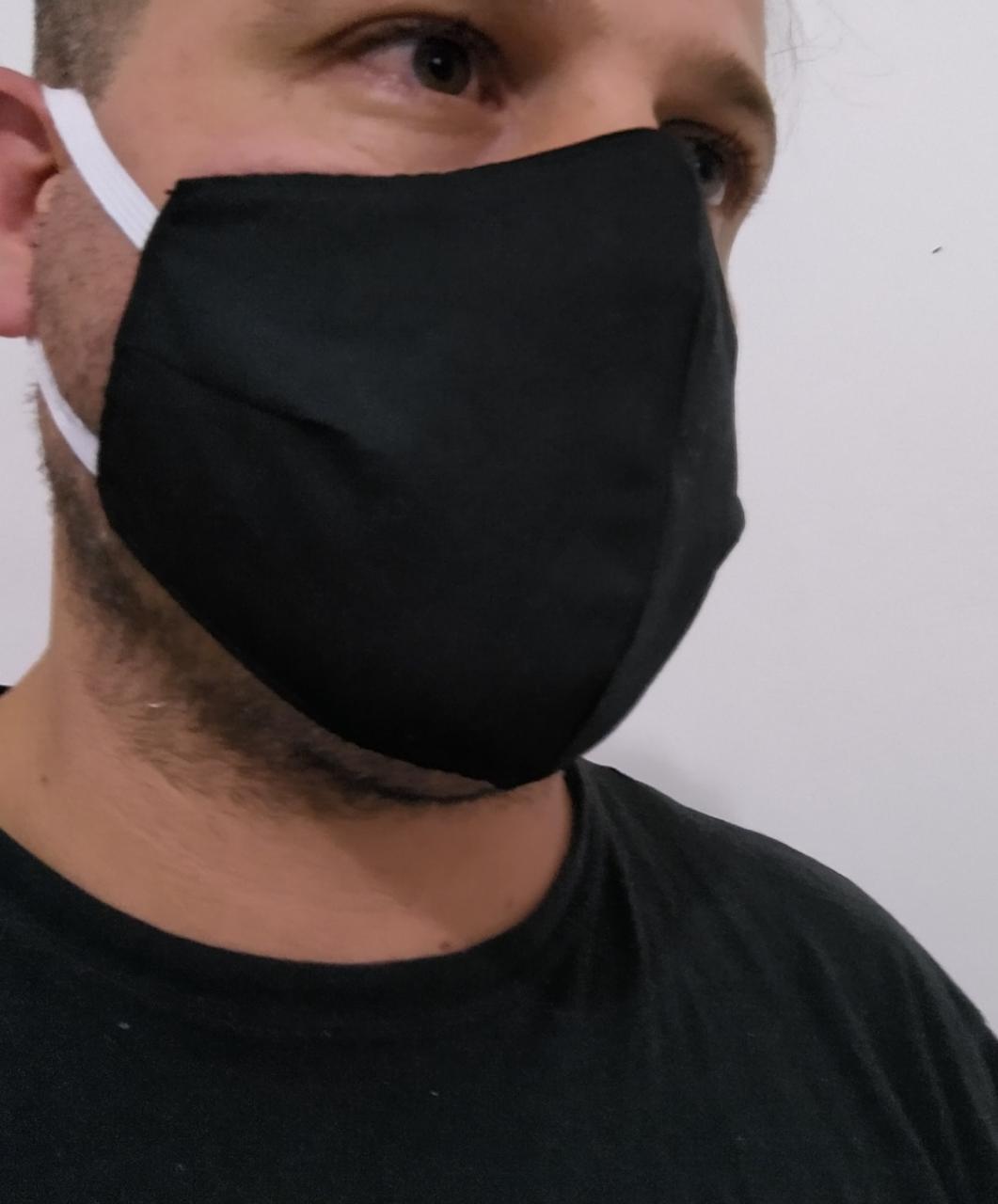 Kit c/ 6 Máscaras de Tecido Tricoline 100% algodão