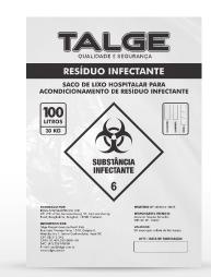 Saco de lixo Infectante 15 Litros pct c/100 - Talge