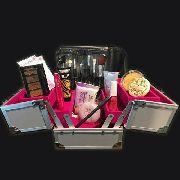 Maleta Profissional 3 Cores Com Produtos De Maquiagem Dentro