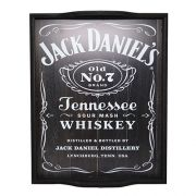 Bandeja Home Bar Modelo Whiskey Preta JD - (G)