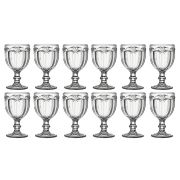 Conjunto 12 Taças De Água Libélula Transparente 260ml Borboleta