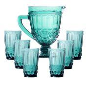Copo de Água Elegance Tiffany 350ML Kit com 6 + Jarra 1L